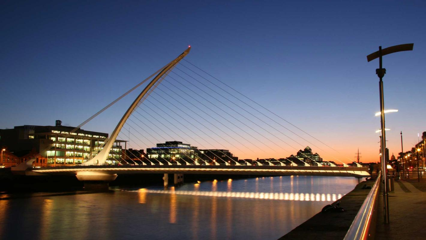 Samuel Beckett Bridge Works