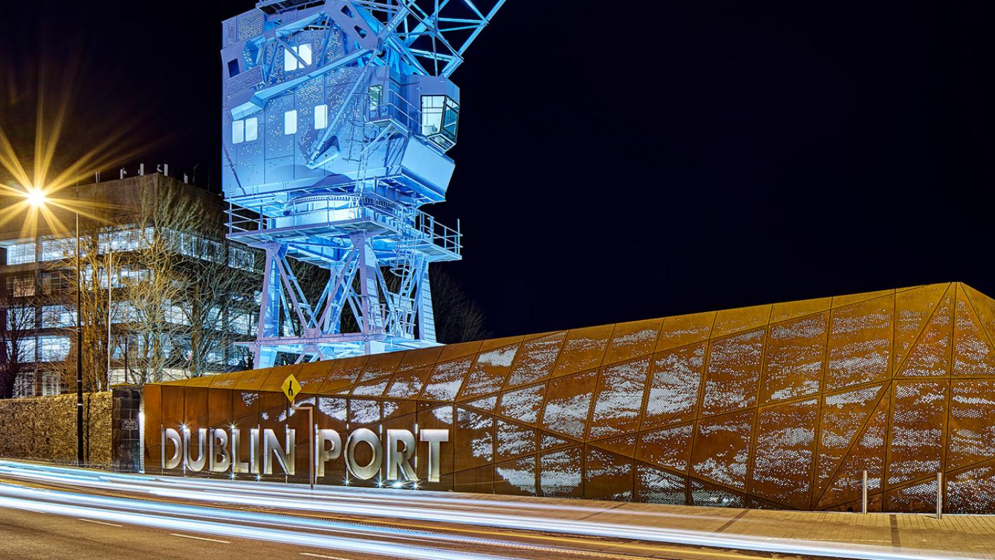 Dublin Port Centre Blue Image
