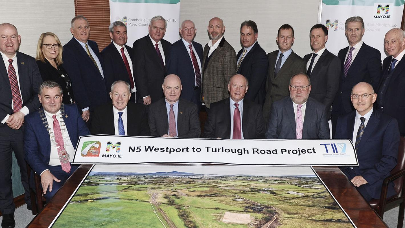 N5 Westport to Turlough Contract Signing Banner Image