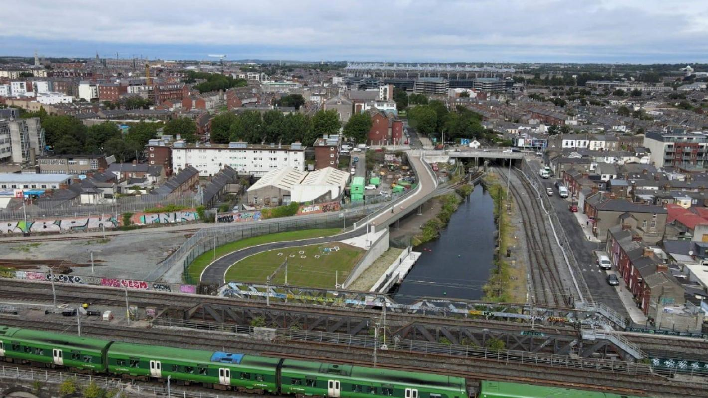 Aerial View of the Royal Canal Viaduct