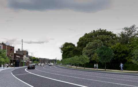 Clontarf to City Centre cycle route tile