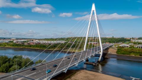 Northern Spire Bridge with traffic