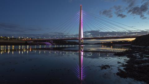 Northern Spire Bridge By Night