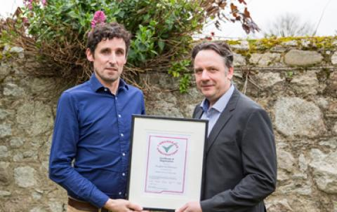 ROD's Ed Warren and Marc Jones with Considerate Constructors Certificate