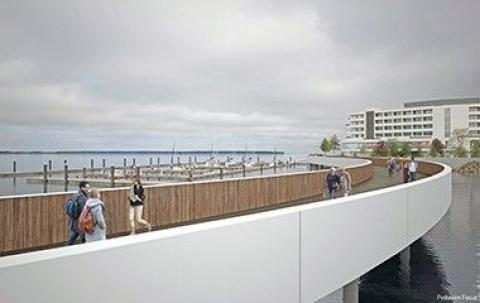 View of the development from the proposed Boardwalk